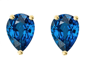 14 KARAT YELLOW GOLD SAPPHIRE PEAR. Choose From 0.25 CTW To 10.00 CTW