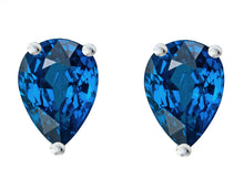 14 KARAT WHITE GOLD SAPPHIRE PEAR. Choose From 0.25 CTW To 10.00 CTW
