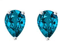14 KARAT WHITE GOLD BLUE TOPAZ PEAR. Choose From 0.25 CTW To 10.00 CTW