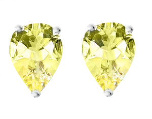 14 KARAT WHITE GOLD CANARY PEAR. Choose From 0.25 CTW To 10.00 CTW