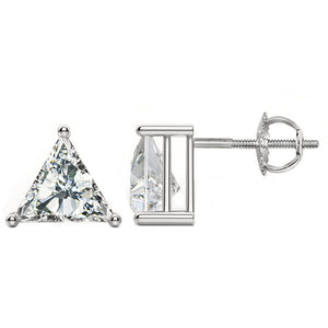14 KARAT WHITE GOLD TRIANGLE 0.75 C.T.W