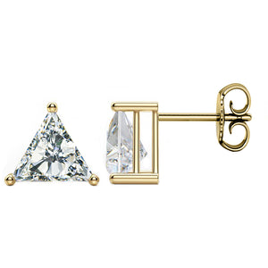 14 KARAT YELLOW GOLD TRIANGLE 1.00 C.T.W