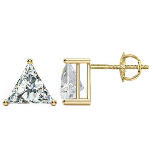 14 KARAT YELLOW GOLD TRIANGLE 3.00 C.T.W