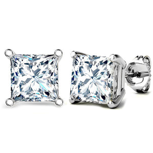 14 KARAT WHITE GOLD PRINCESS. Choose From 0.25 CTW To 10.00 CTW