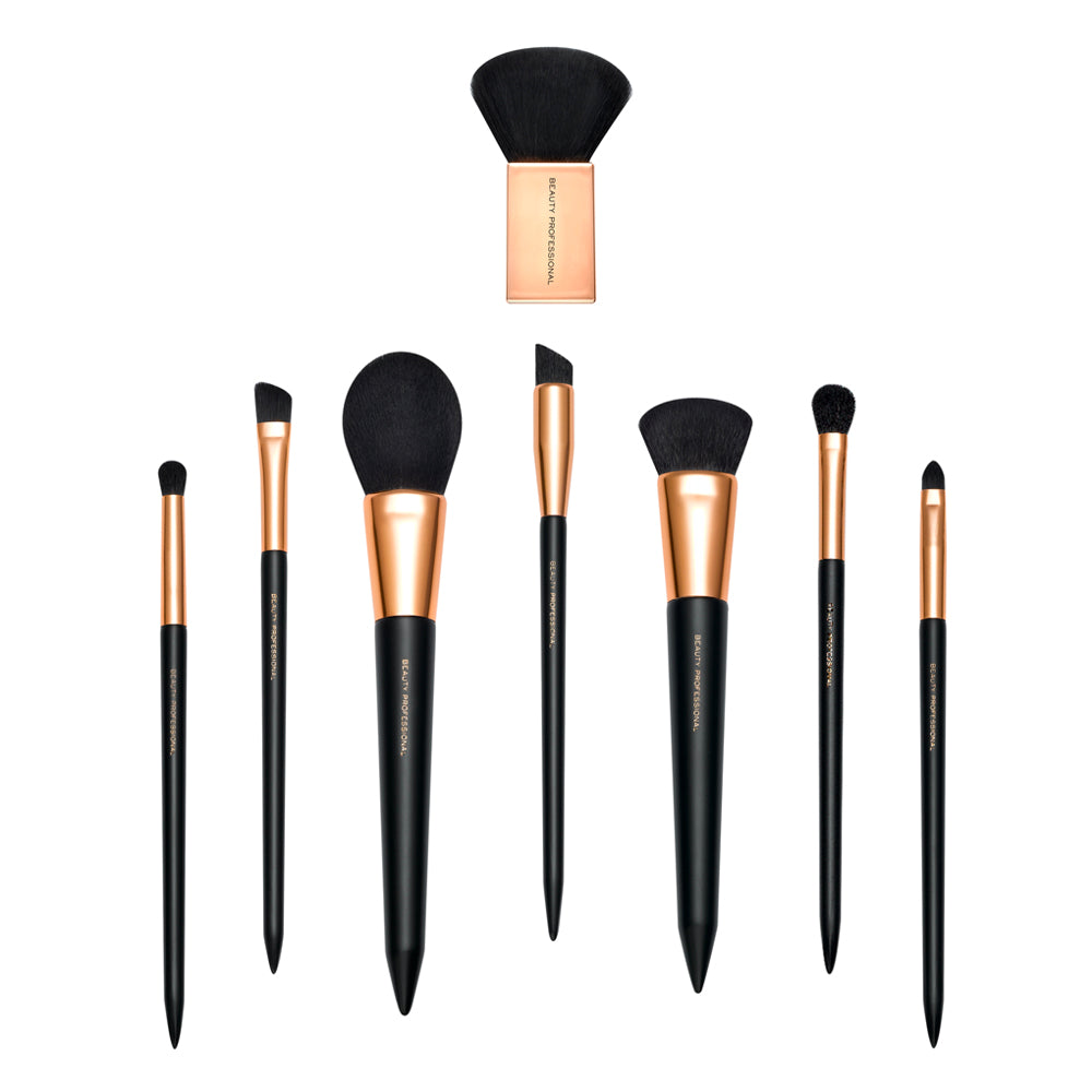 The Luxe Rose Gold Cosmetic Brush Collection