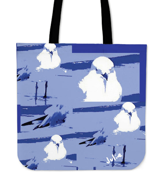 BLUE SEAGULLS TRAVEL TOTE