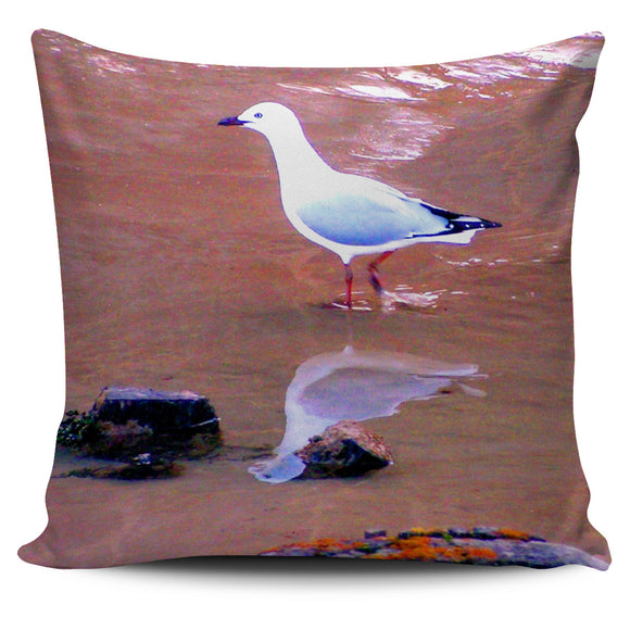 IN MY REFLECTION SEAGULL CUSHION COVER