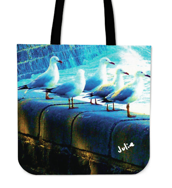 WATCHING SHIPS COME IN TRAVEL TOTE