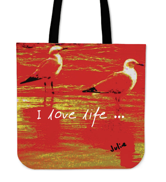 I LOVE LIFE TRAVEL TOTE