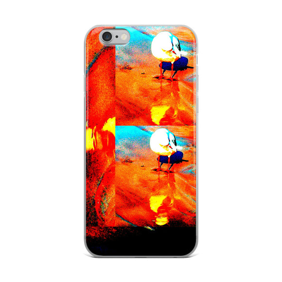 RED COLLAGE SEAGULL iPhone Case