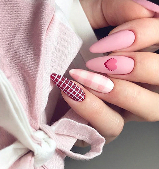 Patterned Valentine's Day Nail Art