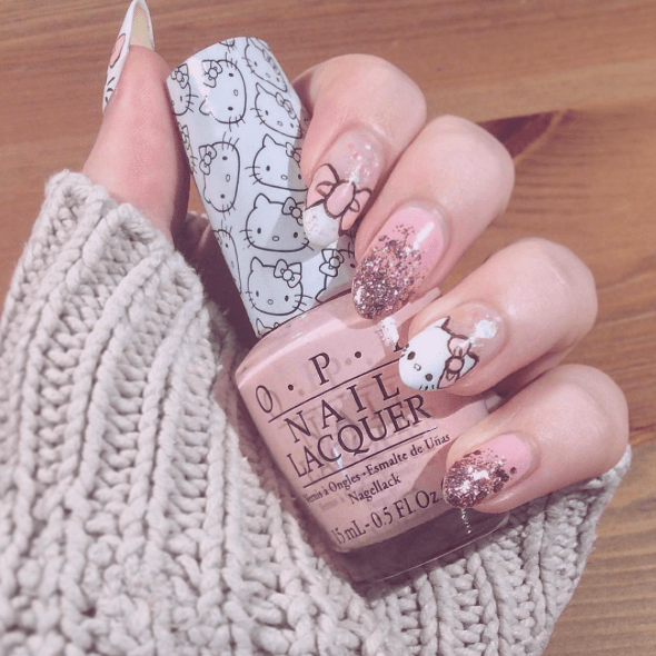 Kitty Cat Manicure