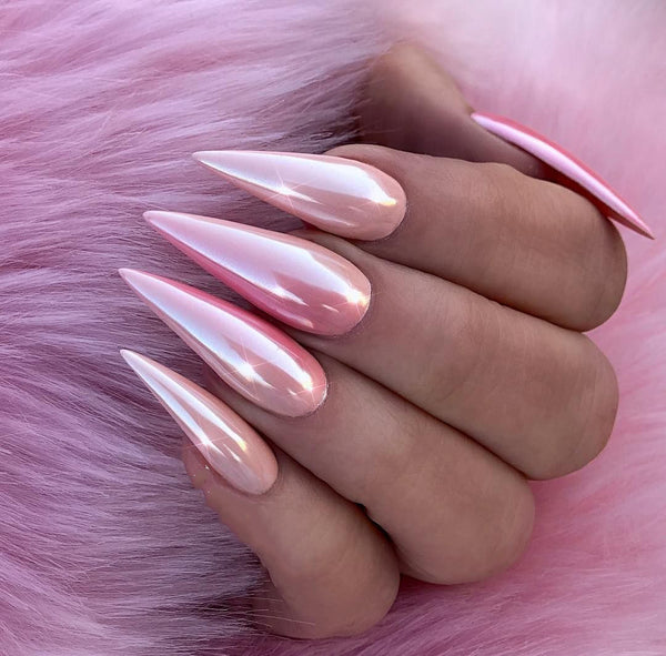 Pearly Pink Nails