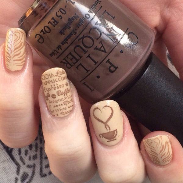 Nail Art for Coffee Lovers