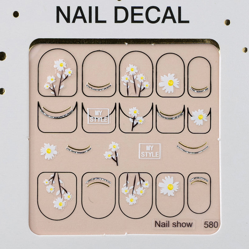 3D Christmas Nail Art Decal Stickers - 580