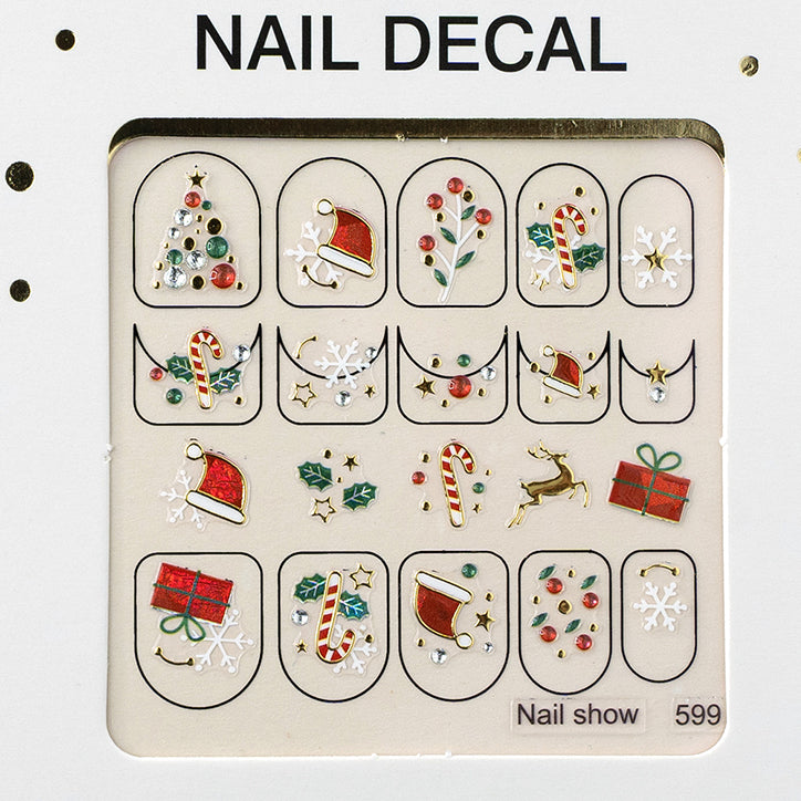 3D Christmas Nail Art Decal Stickers - 599