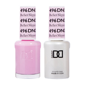 DND 496 Bellet Slipper - DND Gel Polish & Matching Nail Lacquer Duo Set - 0.5oz