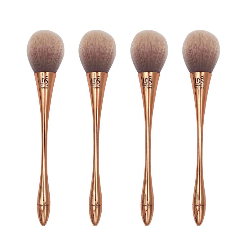 4 LDS Dusting Brushes - Beige