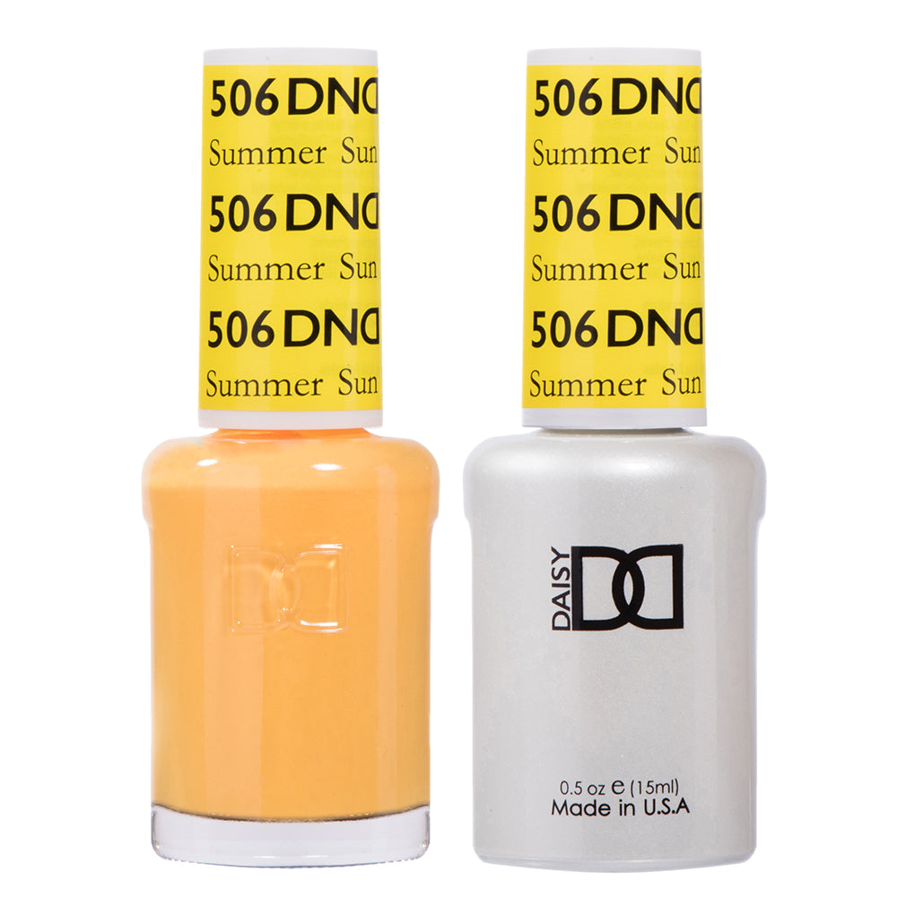 DND 506 Summer Sun - DND Gel Polish & Matching Nail Lacquer Duo Set - 0.5oz