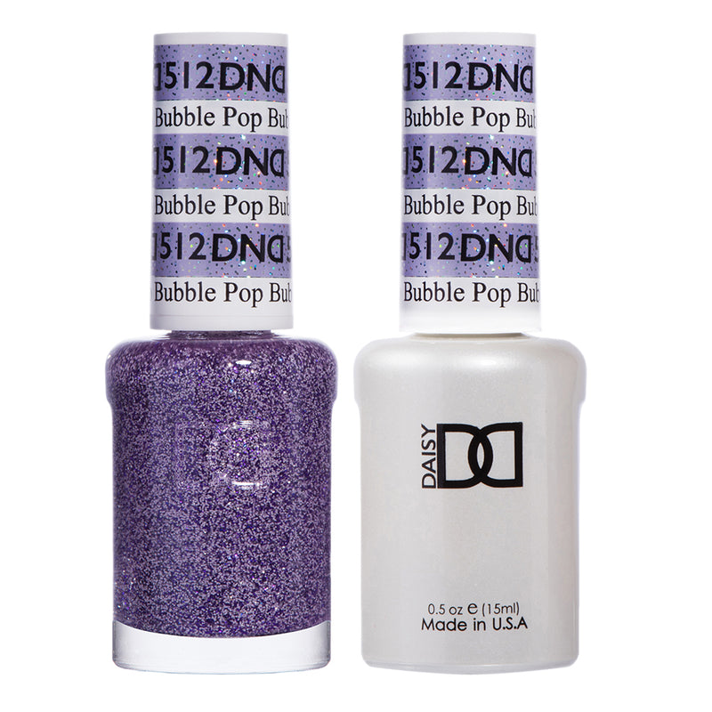 DND 512 Bubble Pop - DND Gel Polish & Matching Nail Lacquer Duo Set - 0.5oz