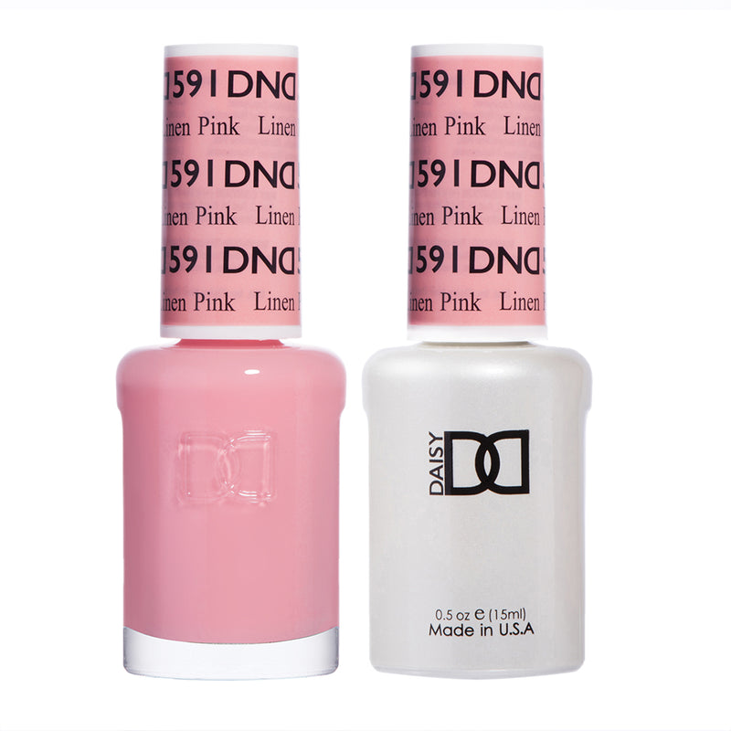 DND 591 Linen Pink - DND Gel Polish & Matching Nail Lacquer Duo Set - 0.5oz