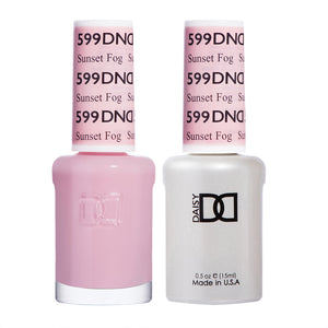 DND 599 Sunset Fog - DND Gel Polish & Matching Nail Lacquer Duo Set - 0.5oz