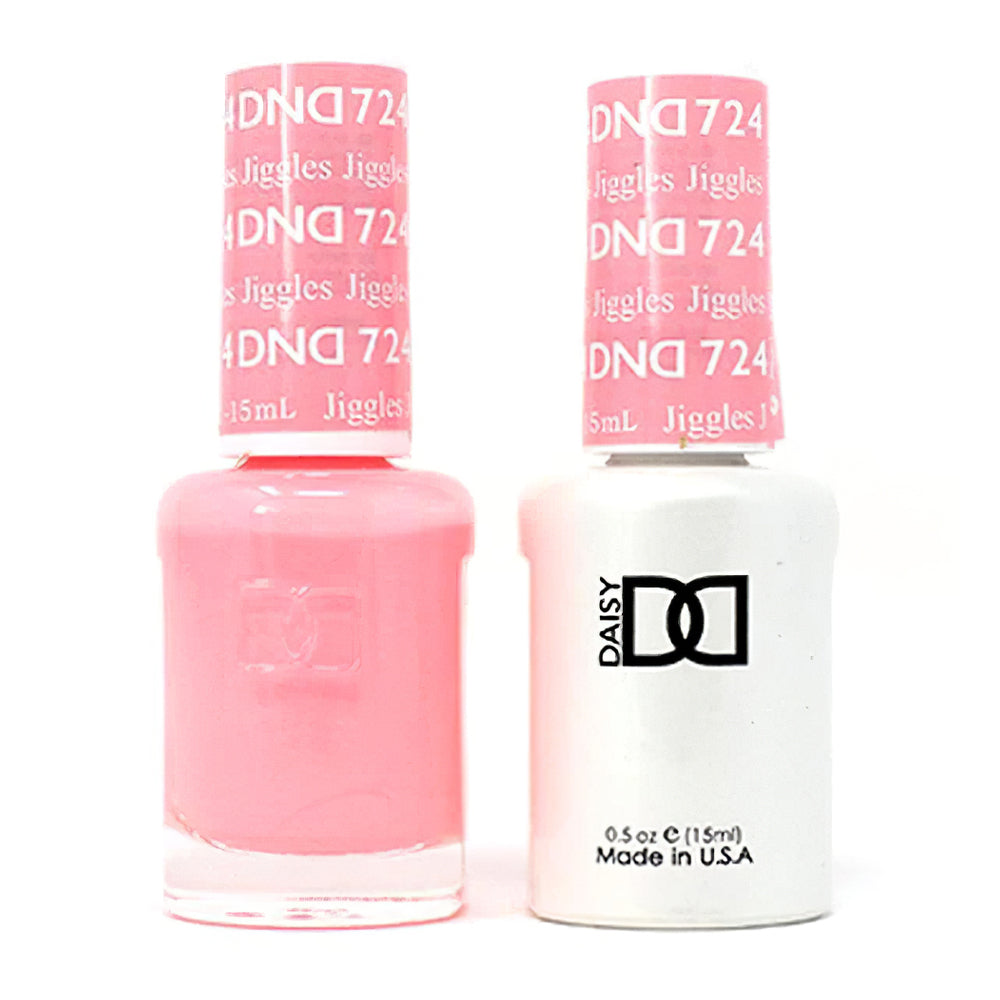 DND 724 Jiggles - DND Gel Polish & Matching Nail Lacquer Duo Set - 0.5oz