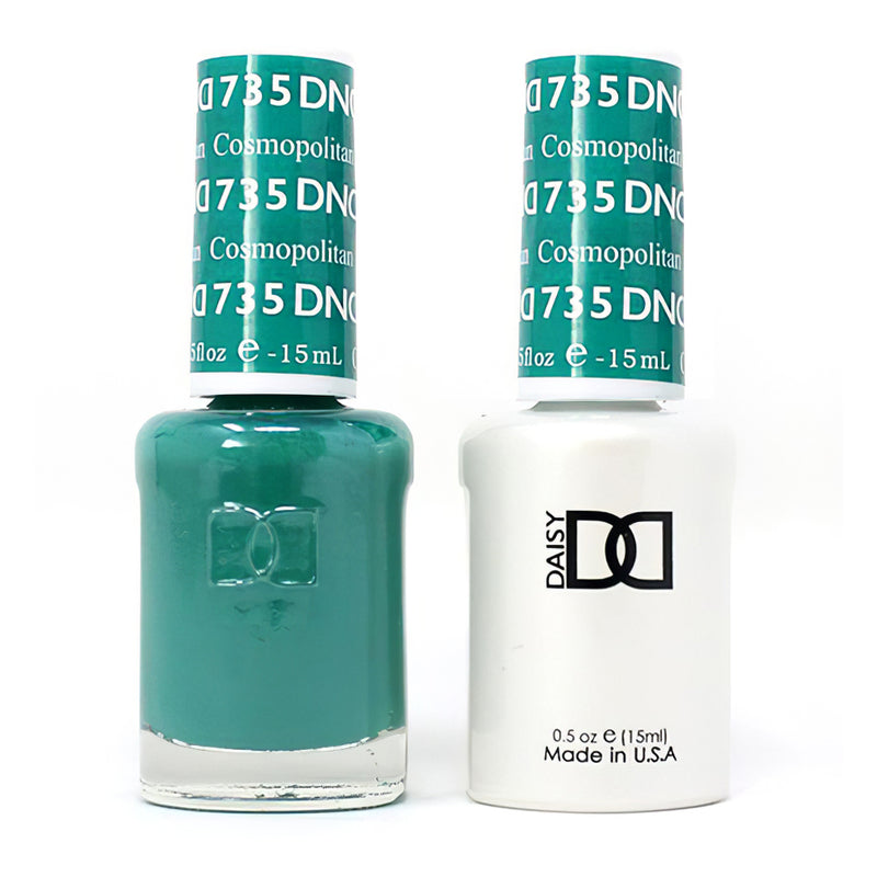 DND 735 Cosmopolitan - DND Gel Polish & Matching Nail Lacquer Duo Set - 0.5oz