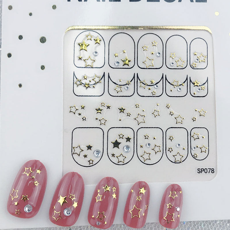 3D Laser Bronzing Nail Stickers SP078