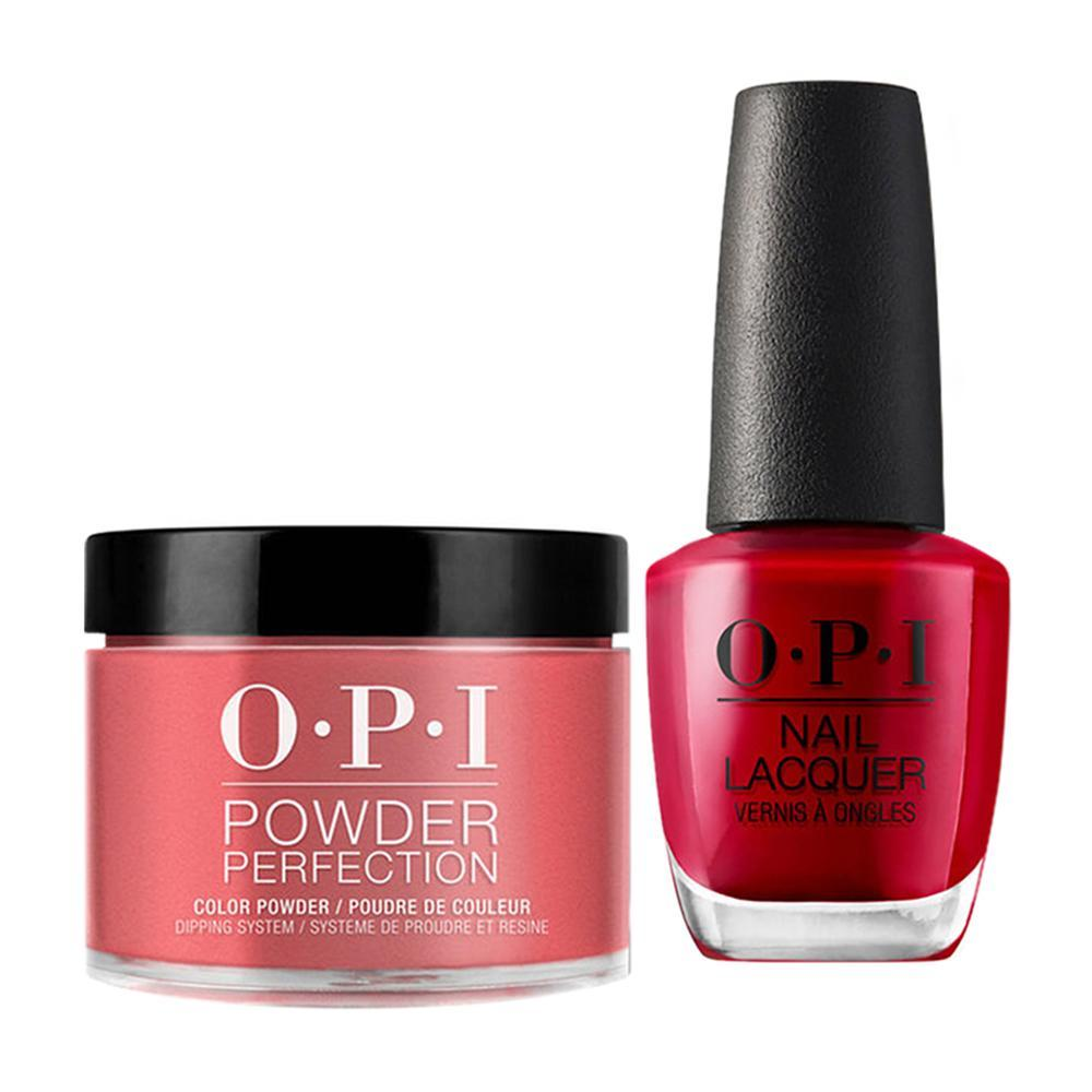 OPI - Dip & Lacquer Combo -  Z13 Color So Hot It Berns