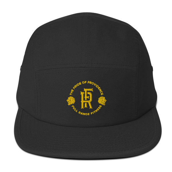 Five Panel Cap (Black/Gold)