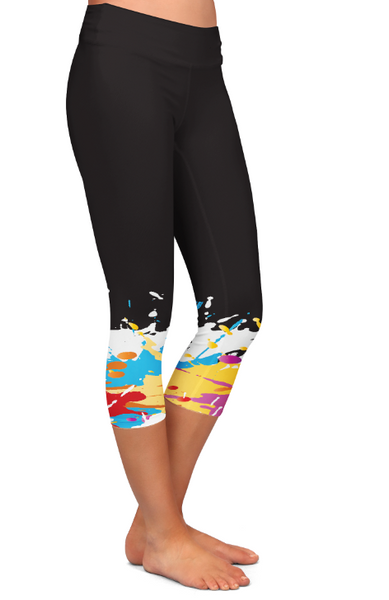 Dipped in Paint Custom Capri Pocket Leggings