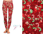 Candy Cane Custom Leggings Pre-Order *Kids & Adult (Closes 5PM CST 9/1/19)