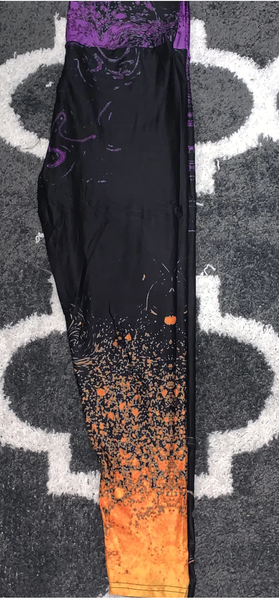 Halloween Glitter Custom Leggings