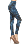 Blue Tie-Dye Leggings