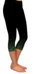 Green Confetti Custom Capri Pocket Leggings