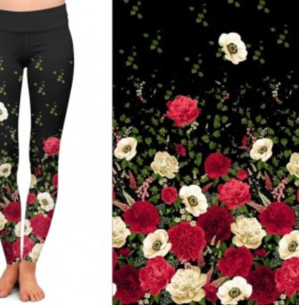 Dipped Floral Custom Leggings