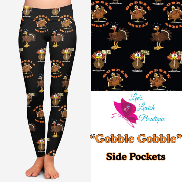 Gobble Gobble Custom Pocket Leggings Pre-Order (Closes 8PM CST 11/8)