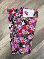 Floral Skull Leggings