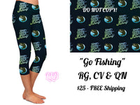 Go Fishing Custom Capri Leggings