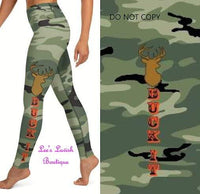 Green Buck It Custom Leggings