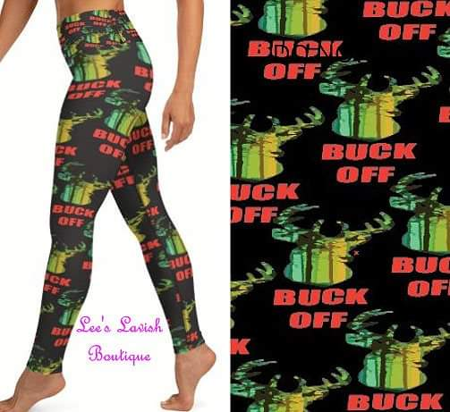 Buck Off Custom Leggings