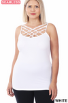 Triple Lattice Cami - White