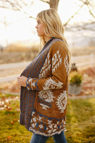 Camel Aztec Sweater