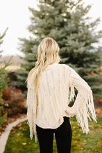 Load image into Gallery viewer, Cream Fringe Sweater