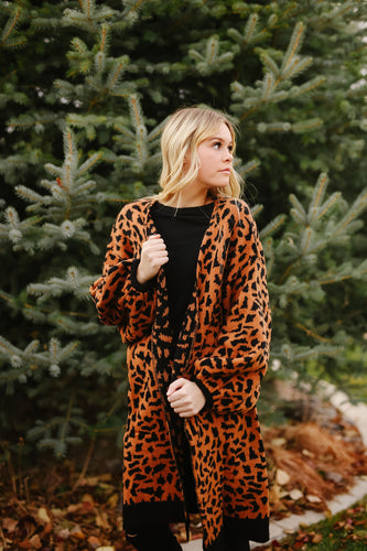 Leopard Cardigan Sweater