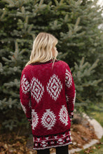Load image into Gallery viewer, Red Aztec Sweater