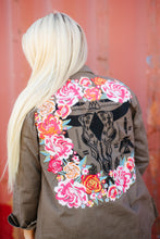 Load image into Gallery viewer, Olive Skull Jacket