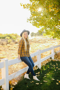 Mustard Plaid Flannel