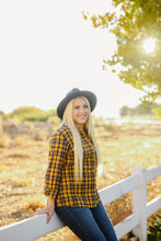 Load image into Gallery viewer, Mustard Plaid Flannel